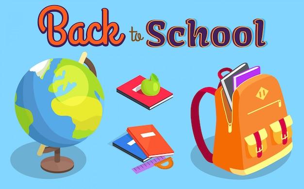 Ritorno a scuola con il libro geografico del globo