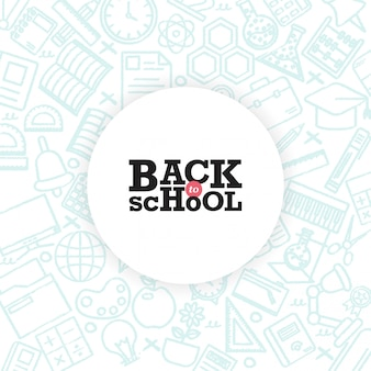 Ritorno a scuola design delle carte