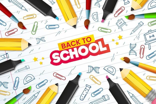 Ritorno a scuola disegna il tema di sfondo