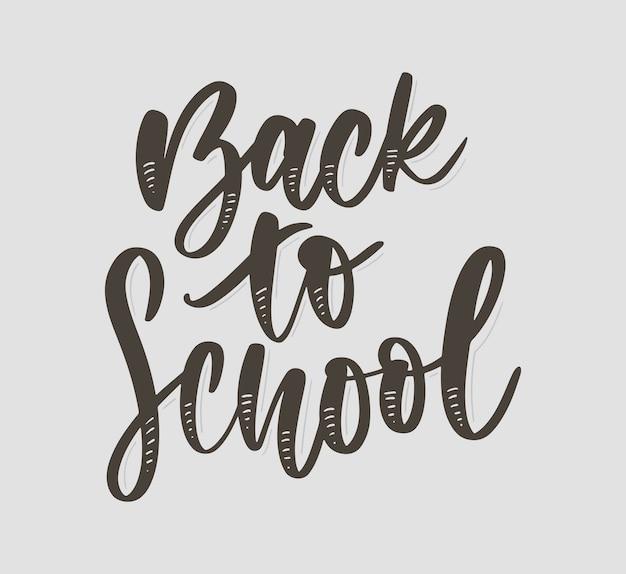 Ritorno a scuola lettering disegnato a mano
