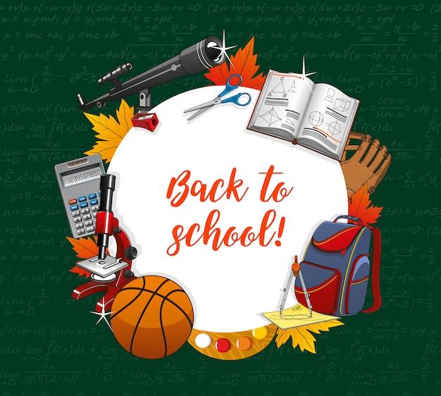 Ritorno a scuola, materiale didattico per lezioni per studenti