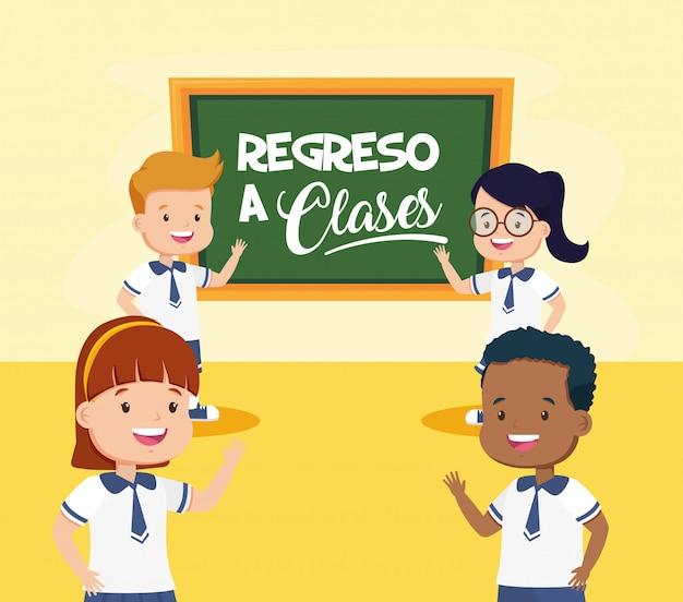 Ritorno a scuola per bambini