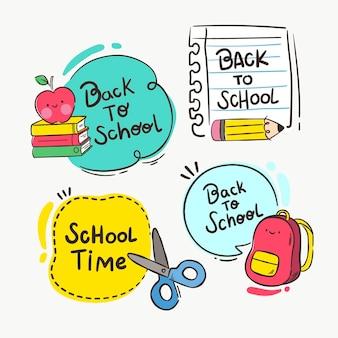 Ritorno a scuola scritto in varie bolle di chat