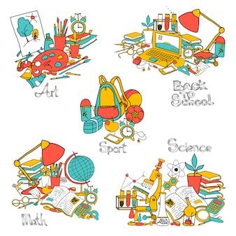 Ritorno a scuola set decorativo