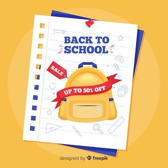 Ritorno a sfondo di vendite scolastiche