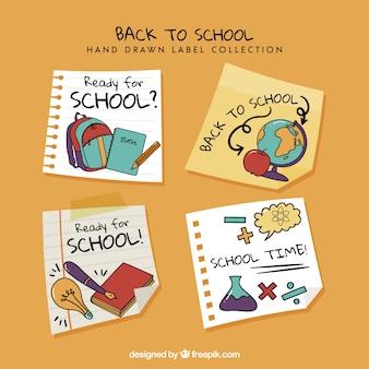 Ritorno alla collezione di etichette scolastiche