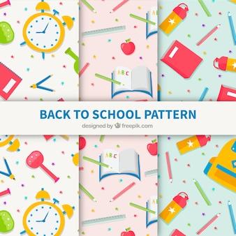 Ritorno creativo alla collezione di modelli scolastici