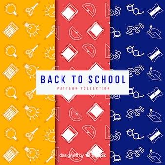Ritorno piatto alla collezione di modelli di vendita della scuola
