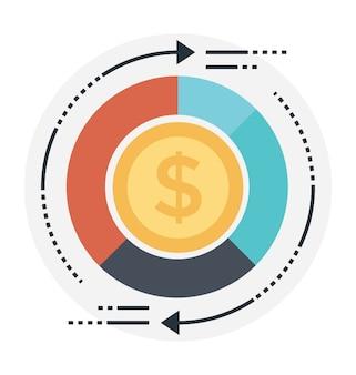 Ritorno sull'investimento illustrazione vettoriale piatta