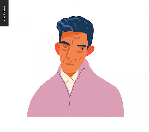 Ritratti di persone reali - uomo bruna