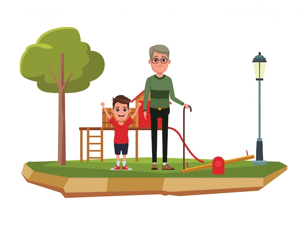 Ritratto del personaggio dei cartoni animati di famiglia avatar