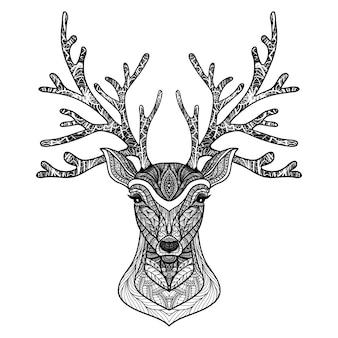 Ritratto di cervo decorativo
