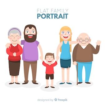 Ritratto di famiglia disegnata a mano