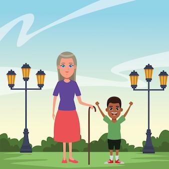 Ritratto di personaggio dei cartoni animati avatar di famiglia
