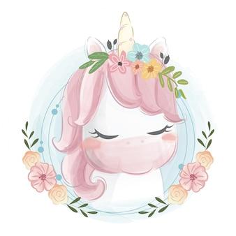 Ritratto di unicorno carino