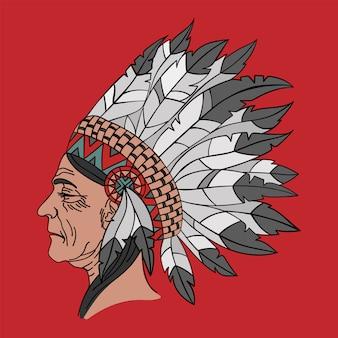 Ritratto nativo americano della donna indiana
