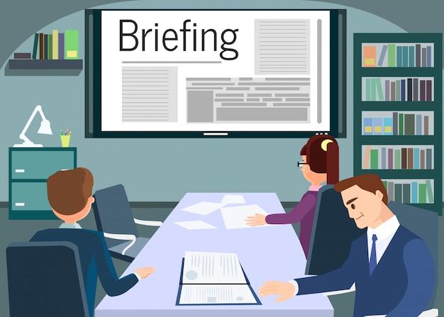 Riunione d'affari della riunione d'istruzione o del briefing.