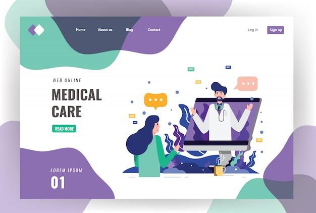 Riunione del paziente un medico professionista sul desktop del computer