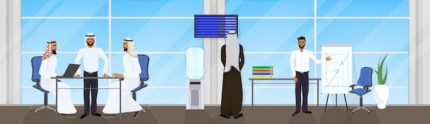 Riunione della gente di affari araba del gruppo, di uomini d'affari musulmani
