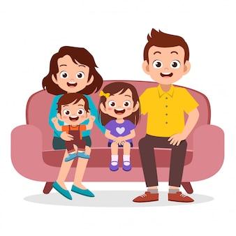 Riunione di famiglia insieme
