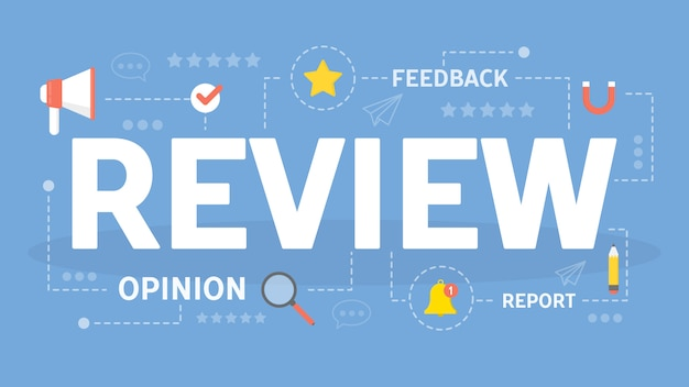 Rivedi l'illustrazione del concetto. idea di feedback e consigli.
