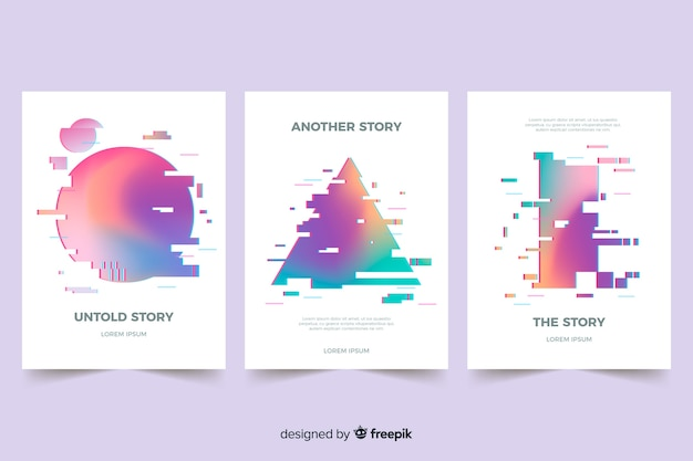 Rivestimenti di design con effetto glitch colorato