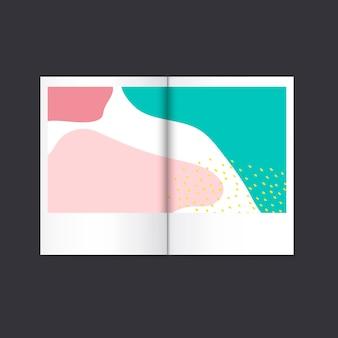 Rivista di design colorata di memphis