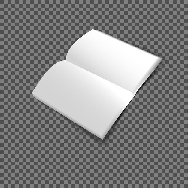 Riviste con mockup di pagine di carta bianca arrotolata