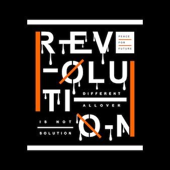 Rivoluzione t shirt design tipografia