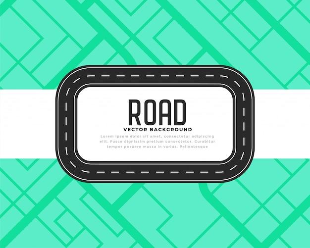Road track o sfondo di viaggio