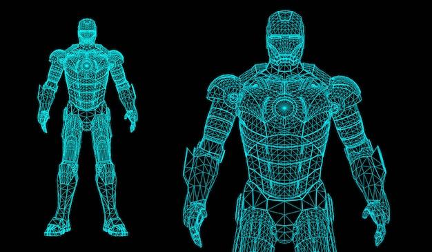 Robot 3d super eroe