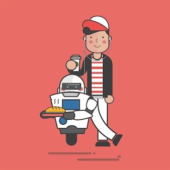Robot di consegna di cibo