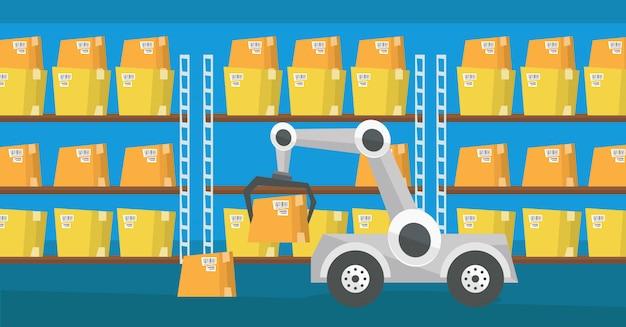 Robot di trasporto di magazzino.