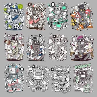 Robot personaggio dei cartoni animati