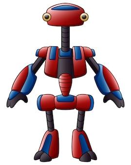 Robot simpatico cartone animato isolato su sfondo bianco