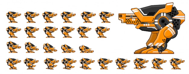Robot walker game sprite