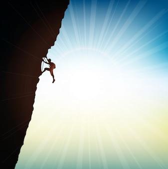 Roccia scalatore estremo sfondo