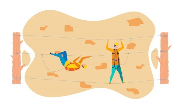 Rock climbers formazione piatta