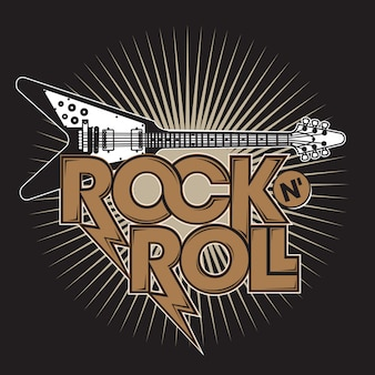 Rock n 'roll guitar
