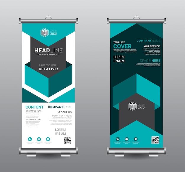 Roll up banner standee design modello di business.