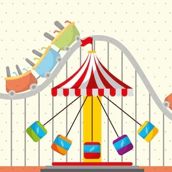 Roller coaster chair carosello carnevale fun fair festival