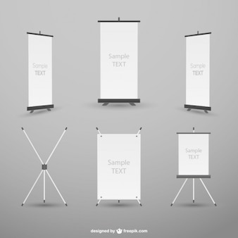 Rollup template vector mockup