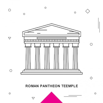 Roman pantheon teemple