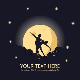 Romantica danza sulla luna poster, sfondo, banner