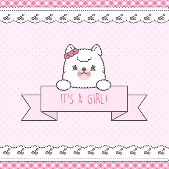 Rosa baby shower card premium