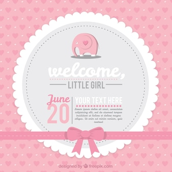 Rosa baby shower card
