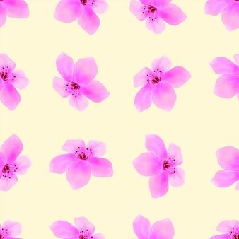 Rosa sbocciare del fiore del modello senza cuciture del fiore