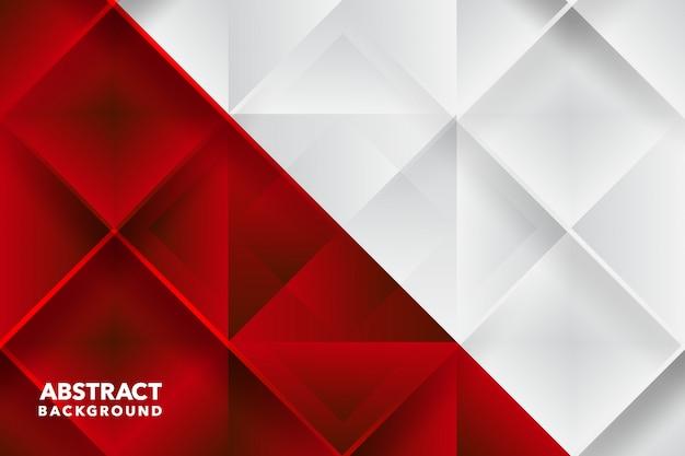 Rosso bianco moderno geometrico astratto
