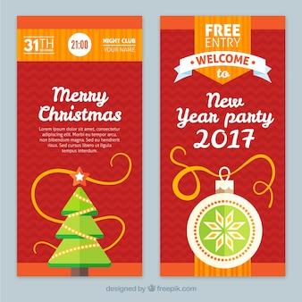 Rosso natale e nuovi banner anno