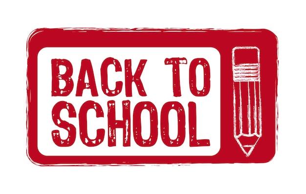 Rosso torna a scuola sigillo isolato